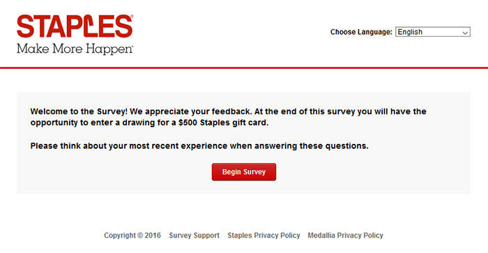 www.staplescares.com - staples customer satisfaction survey