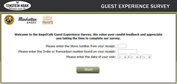 www.bagelexperience.com - bageltalk guest experience survey