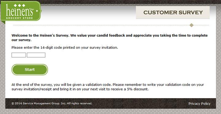 www.heinensfeedback.com - heinen's customer survey