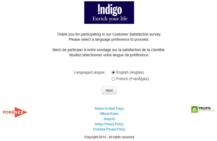 www.indigofeedback.com - indigo customer satisfaction survey