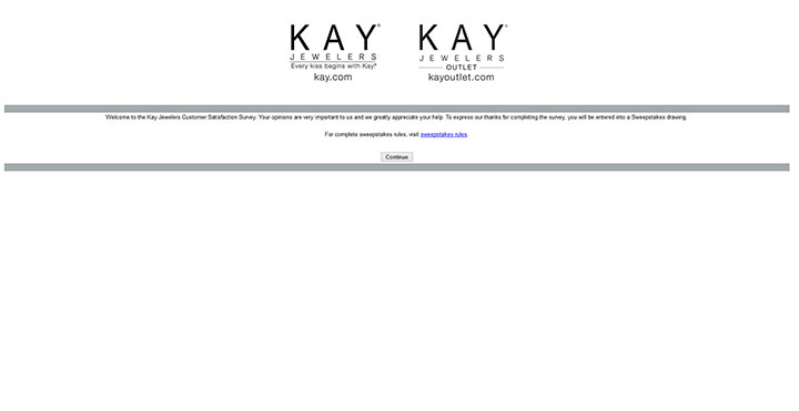 survey.kay.com - kay jewelers customer satisfaction survey