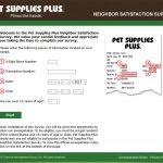 www.tellpetsuppliesplus.com - pet supplies neighbor satisfaction survey