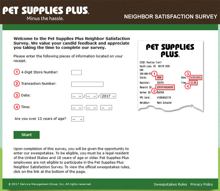 www.tellpetsuppliesplus.com - pet supplies neighbor satisfaction survey
