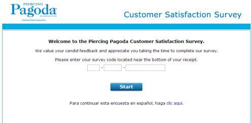 www.pagodasurvey.com - piercing pagoda customer satisfaction survey