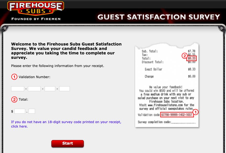 www.firehouselistens.com - firehouse subs guest satisfaction survey
