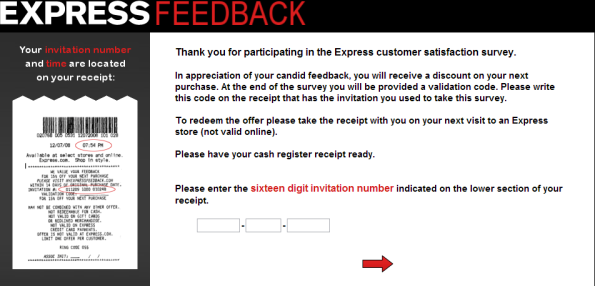 www.myexpressfeedback.com, myexpressfeedback.com, Express Customer Satisfaction Survey