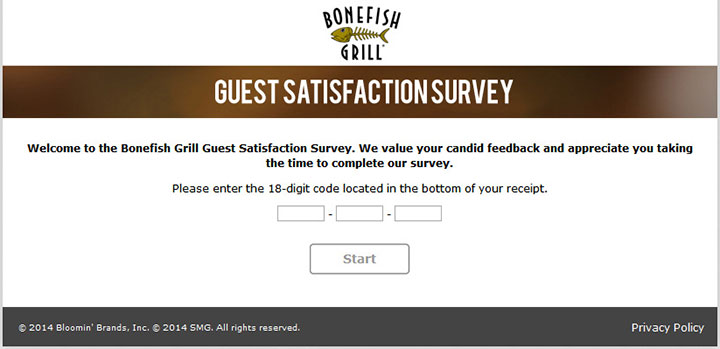www.bonefishexperience.com - bonefish grill guest satisfaction survey