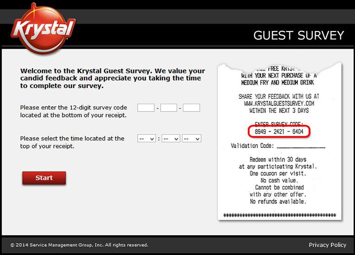 www.krystalguestsurvey.com - krystal guest survey