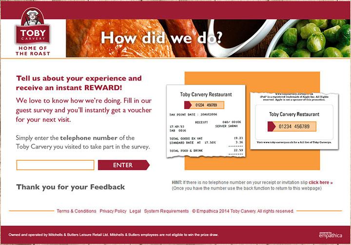 www.tobycarvery-survey.co.uk - toby carvery guest satisfaction survey