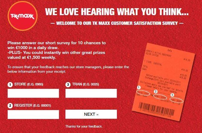 www.TKMaxxcare.com,TK Maxx Customer Satisfaction Survey