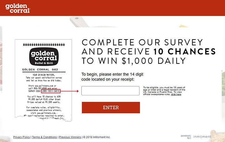 www.gclistens.com - Take Golden Corral Survey to Win $1,000 Cash!