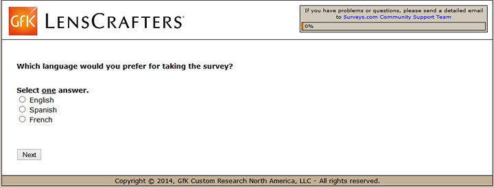 www.LensCrafters.com/survey | LensCrafters Customer Feedback Survey