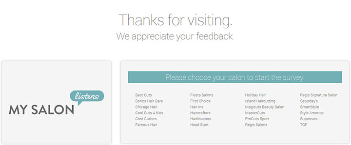 Mysalonlistens.com - Take the My Salon Listens Survey