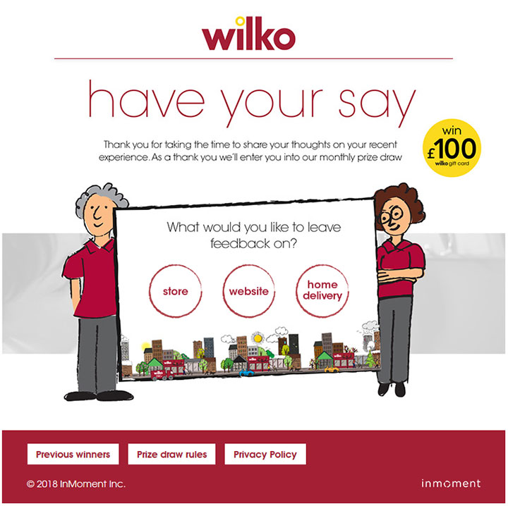 www.wilkohaveyoursay.com - Take Wilko Survey to Win £100 Wilko Gift Card