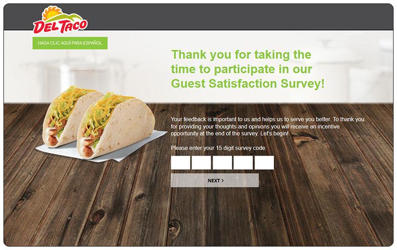 Myopinion.deltaco.com - Get $1 OFF a $3 Purchase | Del Taco Survey