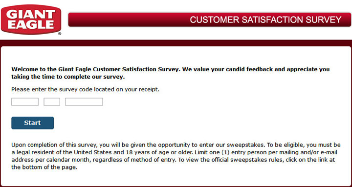 Giant Eagle Listens Survey | www.gianteaglelistens.com | $2000