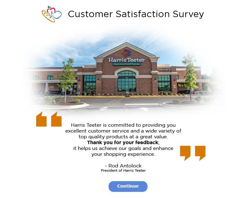 www.htsurvey.com Harris Teeter Customer Service Survey WIN $500