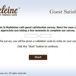 www.LaMadeleinefeedback.com - Take la Madeleine Survey to Receive a Validation Code