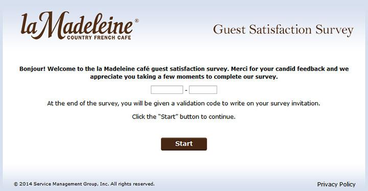 www.LaMadeleinefeedback.com - Take la Madeleine Survey to Receive a Validation Code