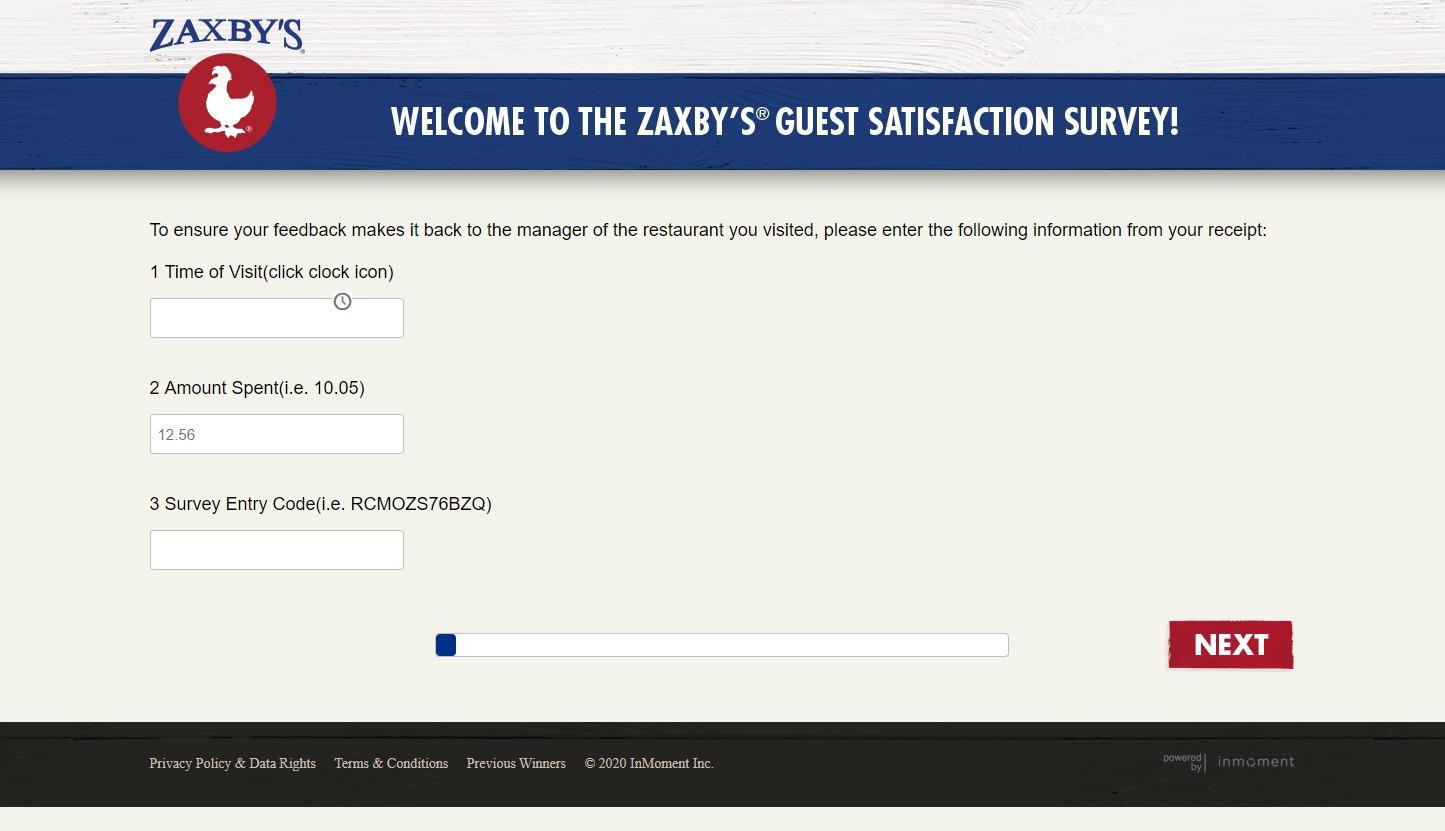 www.myzaxbysvisit.com ― Zaxbys Survey ― WIN 1000$ Daily