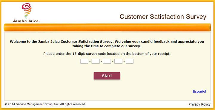www.TellJamba.com - Jamba Juice Survey