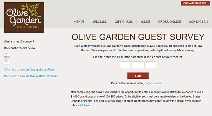 Olive Garden's Survey At www.OliveGardenSurvey.com Guide