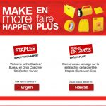 www.stapleslistens.ca - Take Staples / Bureau en Gros Survey to Win $1,000!