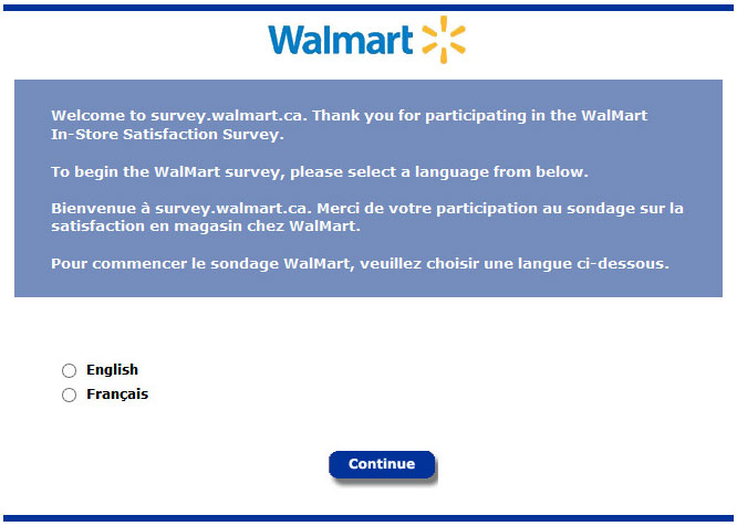 Survey.Walmart.ca - Take Wal-Mart Canada Survey to Win a CDN$1,000