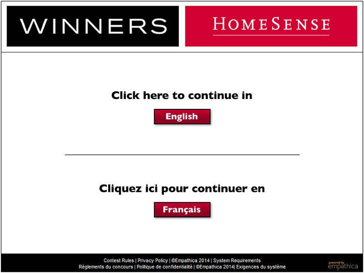 www.Winners-Opinion.ca - Take Winners Homesense Survey