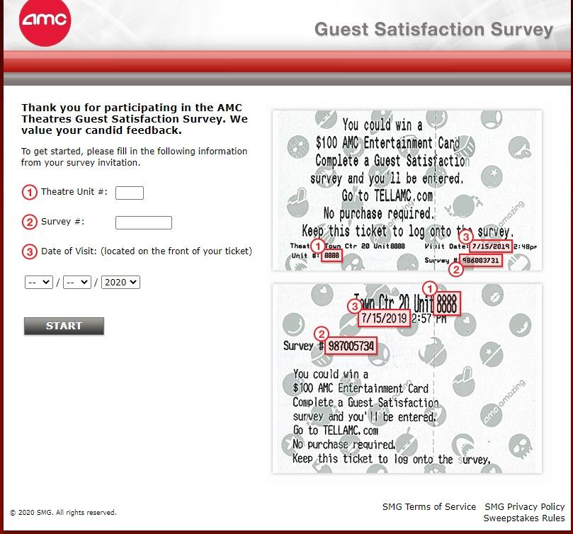 TellAMC.com - Take AMC Theatres Survey