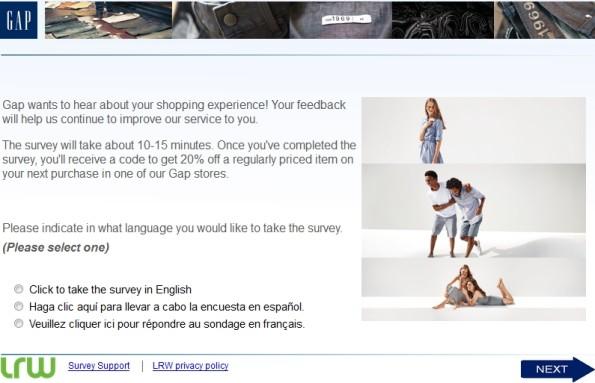 Survey.medallia.com/gap-feedbackGap - Take Gap Customer Experience Survey