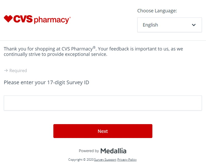 www.cvshealthsurvey.com ― Take CVS® Survey ― Win $1,000