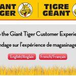Giant Tiger Survey At www.GiantTiger.com/Survey