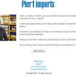 Pier 1 Feedback – www.pier1.com/feedback