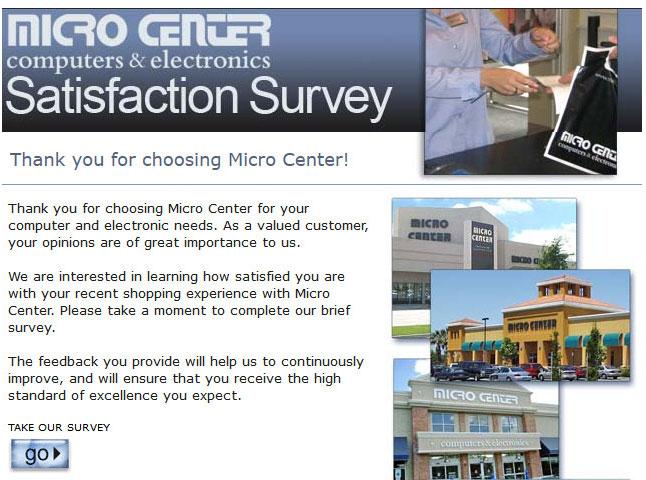 www.Microcentersurveys.com - Micro Center Survey